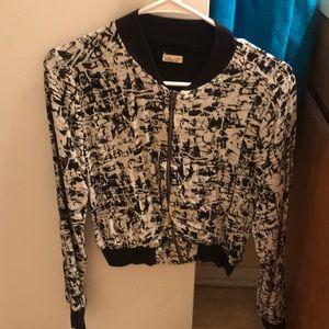 Black and white street jacket